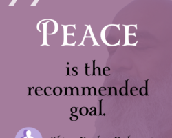 Peace is the recommended goal