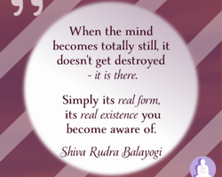 When the mind totally becomes still, it doesn't get destroyed