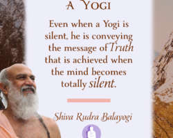 Even if a Yogi is silent, He is conveying the message of Truth