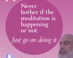Never bother if the meditation is happening or not