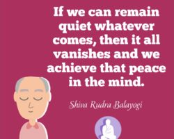 If we can remain quiet whatever comes