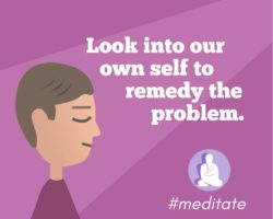 Look into our own self to remedy the problem